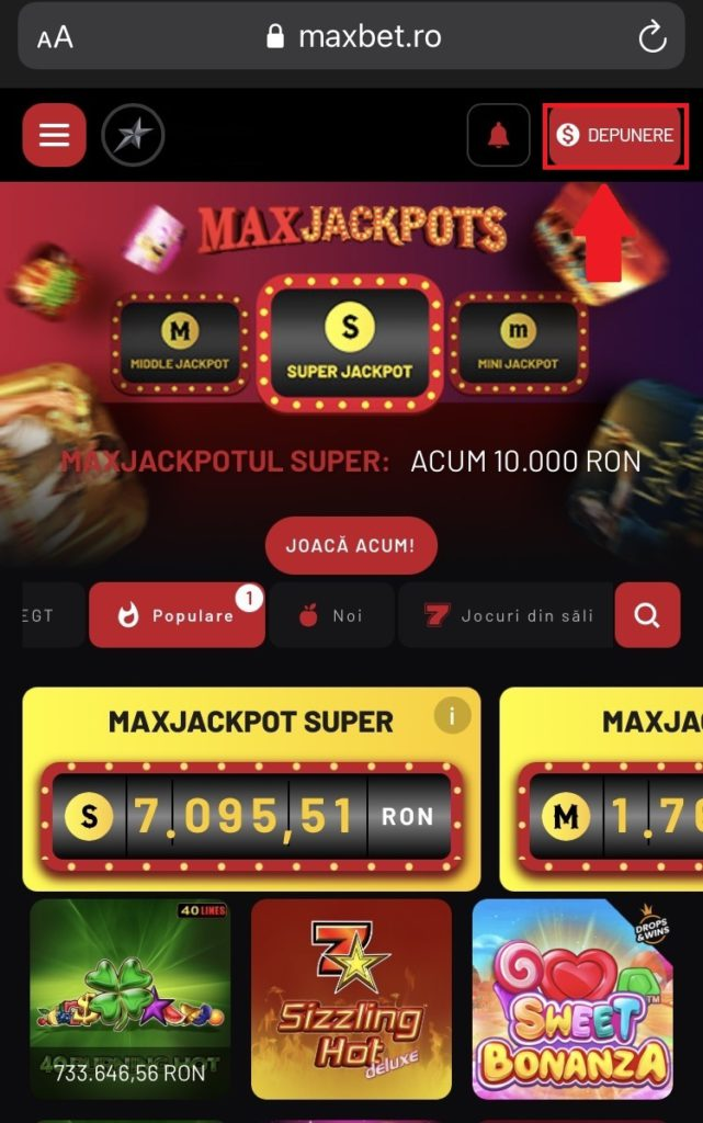 Cum depui online la MaxBet.ro?